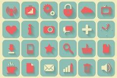 Os ícones ajustaram-se retro Fotografia de Stock Royalty Free