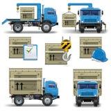 Os ícones da expedição do vetor ajustaram 7 Foto de Stock Royalty Free
