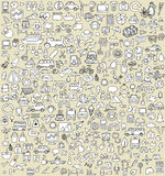 Os ícones da garatuja de XXL ajustaram No.3 Imagem de Stock Royalty Free