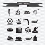 Os ícones da Web ajustaram a ilustração Imagens de Stock Royalty Free