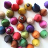 Os cones do incenso são coloridos Fotografia de Stock Royalty Free