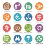 Os ícones do negócio ajustaram 3 - Dot Series Imagem de Stock