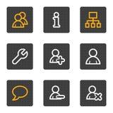 Os ícones do Web dos usuários, cinza abotoam a série Imagens de Stock Royalty Free