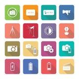 Os ícones dos aparelhos eletrodomésticos no projeto liso ajustaram 3 Foto de Stock
