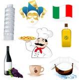 Os ícones italianos Fotografia de Stock Royalty Free