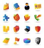 Os ícones realísticos ajustaram-se para o negócio Foto de Stock Royalty Free