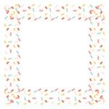Os confetes moldam isolado no fundo branco Imagens de Stock Royalty Free