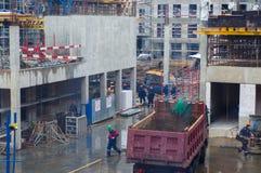 Os construtores estão trabalhando Fotografia de Stock