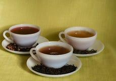 Os copos de variam do chá Fotos de Stock