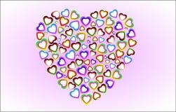Os corações Fotografia de Stock Royalty Free