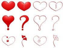 Os corações ajustaram-se Imagem de Stock