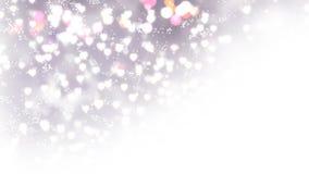 Os corações claros aparecem no fundo de brilho Animação do laço do sumário do feriado do dia de Valentim ilustração stock
