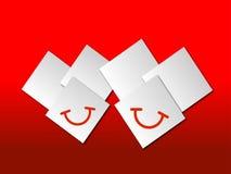 Os corações de sorriso Foto de Stock Royalty Free