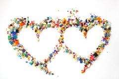 Os corações do Valentim Fotos de Stock Royalty Free