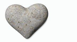 Os corações do Valentim do fundo das rochas isolaram - a rendição 3d Imagens de Stock