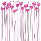 Os corações gostam de flores Foto de Stock