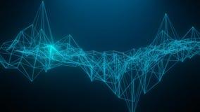 os cora??es do wireframe 3D rendem os fundos brancos, linhas abstratas do formul?rio do ?cone do cora??o e tri?ngulos, rede de co ilustração stock