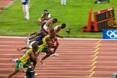 Os corredores os mais rápidos dos mundos foto de stock royalty free
