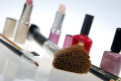 Os cosméticos inclinaram o foco macio Fotografia de Stock Royalty Free