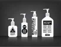 Os cosméticos engarrafam o vetor de empacotamento Fotografia de Stock Royalty Free