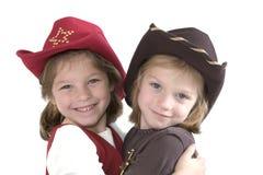 Os cowgirls pequenos os mais bonitos Foto de Stock