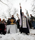 Os cristãos ortodoxos comemoram Epithany Fotografia de Stock Royalty Free