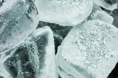 Os cubos de gelo fecham-se acima Foto de Stock Royalty Free