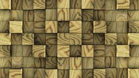 Os cubos de madeira montam no fundo verde ilustração royalty free