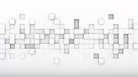 Os cubos expulsos caóticos 3D do branco rendem Fotografia de Stock Royalty Free