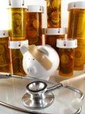 Os cuidados médicos custam o conceito Fotos de Stock Royalty Free