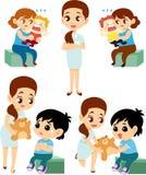 Os cuidados motivam crianças ilustração royalty free