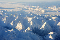 Os cumes italianos entre Aosta e Susa Fotos de Stock Royalty Free