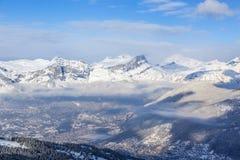 Os cumes no inverno Foto de Stock Royalty Free