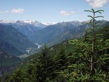 Os cumes, perto de Suíça de Locarno Imagem de Stock