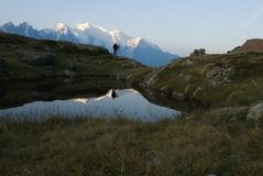 Os cumes veem das lacas de Cheserys Fotografia de Stock
