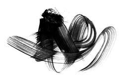 Os cursos abstratos da escova e espirram da pintura no papel watercolo ilustração stock
