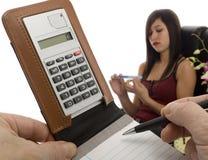 Os custos laborais calculam Fotografia de Stock Royalty Free