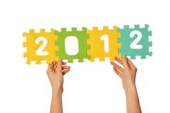Os dígitos 2012 Fotografia de Stock