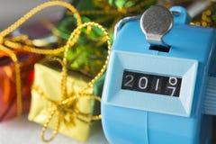 Os dígitos estão mudando desde 2016 até 2017 o ano novo Fotos de Stock Royalty Free