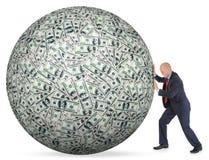 Os dólares empilham como o fundo fotografia de stock royalty free