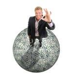 Os dólares empilham como o fundo Foto de Stock Royalty Free