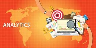 Os dados da analítica do Web site e obtêm o tráfego Imagens de Stock Royalty Free