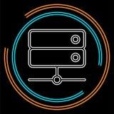 Os dados do servidor submetem - o ícone do armazenamento de computador ilustração stock