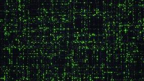 Os dados grandes do verde numeram o código do dígito Imagens de Stock