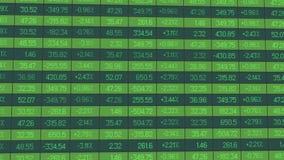 Os dados para a revisão analítica do período de troca, índices das estatísticas aumentam e deixam cair ilustração royalty free