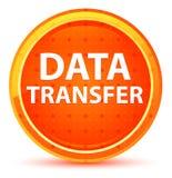 Os dados transferem o botão redondo alaranjado natural ilustração royalty free