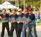 Os dançarinos aborígenes de Taiwan executam uma dança do casamento Fotografia de Stock Royalty Free