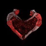 Os dançarinos acoplam a fatura do coração Fotografia de Stock Royalty Free