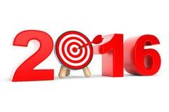 Os dardos visam como o sinal de 2016 anos Imagens de Stock