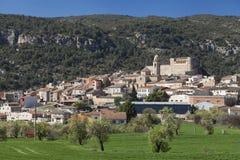 Os de Balaguer. Village of Os de Balaguer in Lleida, Catalonia, Spain Royalty Free Stock Photo